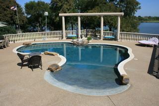 Beach Entry Pools Beach Style Pool Dallas By Pulliam Pools