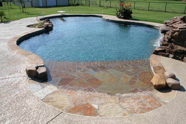 Beach Entry Pools Beach Style Pool Dallas By Pulliam Pools
