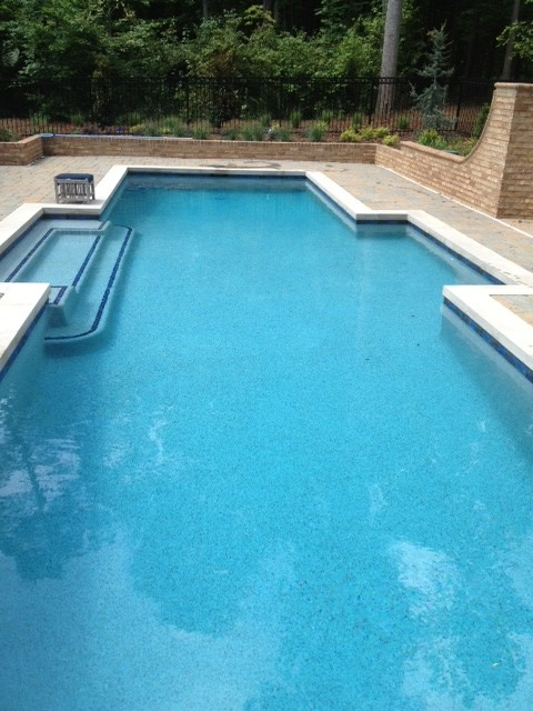 Beautiful Blue Lagoon Pebble Tec Pool Finish