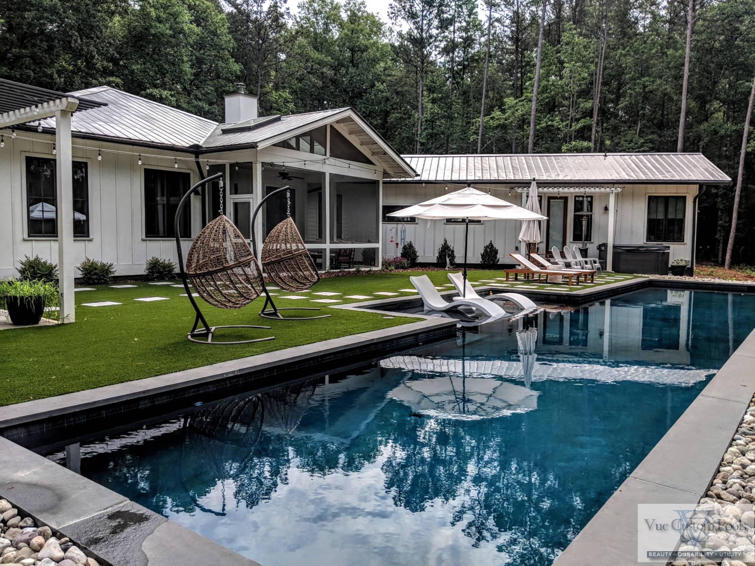 beautiful custom Lap pool Retreat