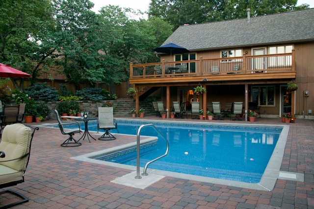 Beautiful Outdoor Living Space In Shawnee KS - Traditional - Pool - Kansas City - By Stone ...