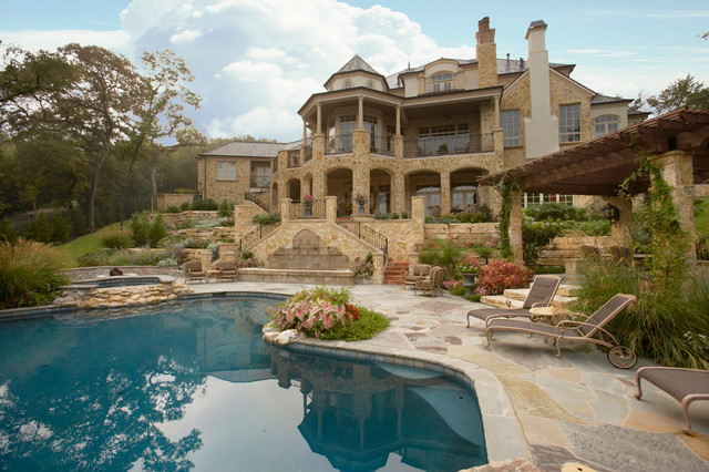Beautiful Pools Patios Gardens Traditional Swimming Pool And