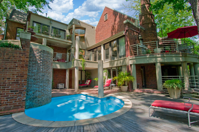 Beechwood Pool in the Heights contemporary-pool