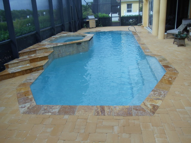 Remodeling Pools Before And After : Before and after pool remodel huddle mediterranean