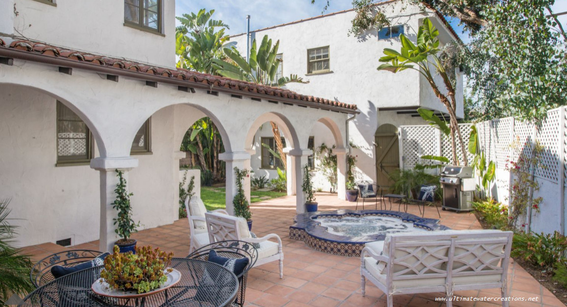 Before & After - Spanish Style Spa in Los Angeles, CA