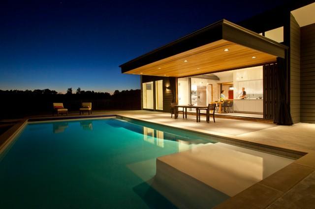 阳台泳池现代风格装潢效果图
