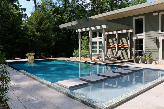 Bell modern pool raleigh by blue haven pools for Pool design raleigh nc
