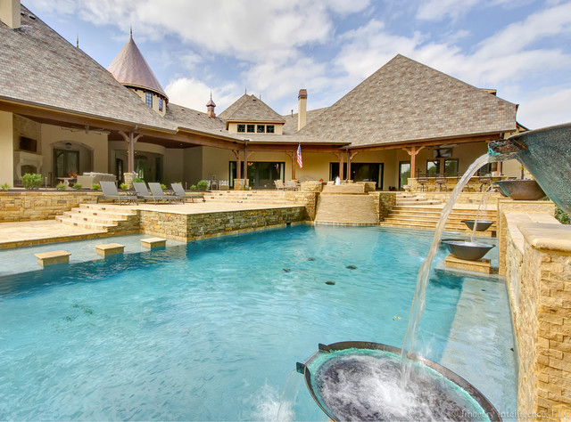Bella Rose By Venetian Homes American Traditional Swimming Pool Dallas By Lacey Maykus