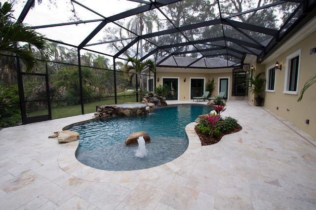 Belleair Whole-House Remodel and Addition traditional pool