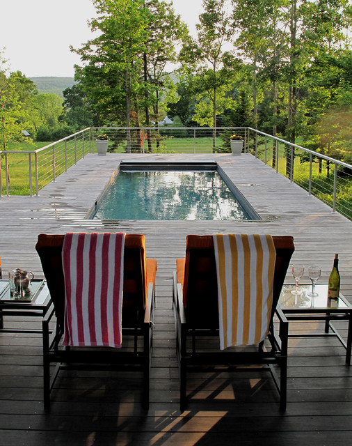 Berkshire Pool House Contemporary Pool Other By Burr Mccallum Architects