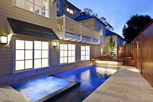 Contemporary Pool so worth it! 2015 trends for hot tub pool combos
