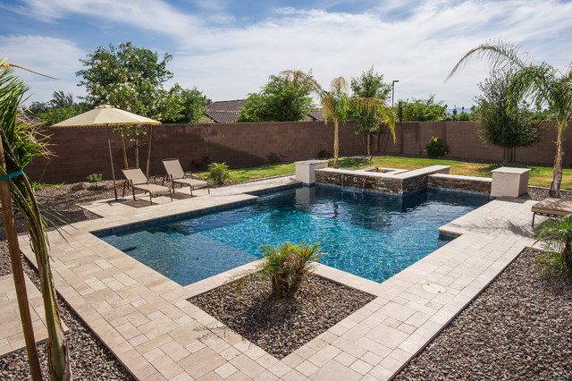 Best contemporary pool phoenix by california pools for Pool design phoenix