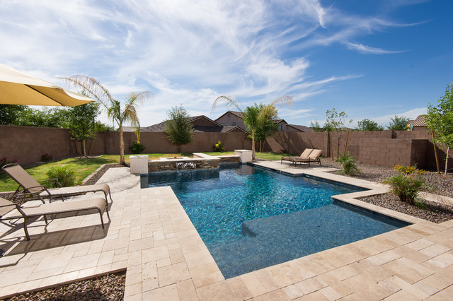 Best contemporary pool phoenix by california pools for Pool design az