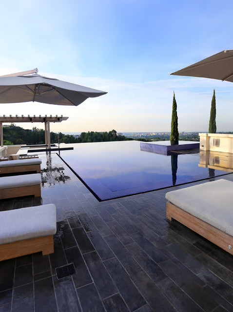 Beverly Hills Modern Zero Edge Infinity Pool Designed By