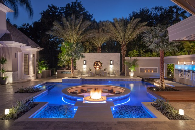 quot big time quot modern pool tampa by ryan hughes design