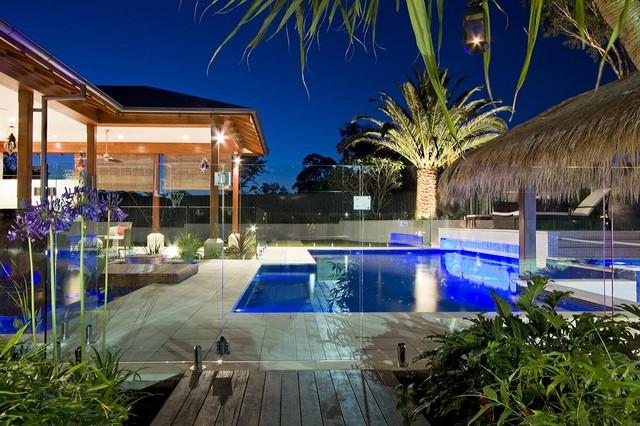 Birkdale Bali In Brisbane Beach Style Pool Brisbane By Majestic Pools Landscapes