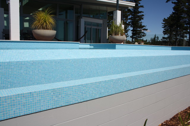 Bisazza collection contemporary pool auckland by for Pool design auckland