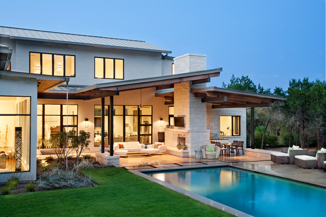 Blanco House contemporary-pool