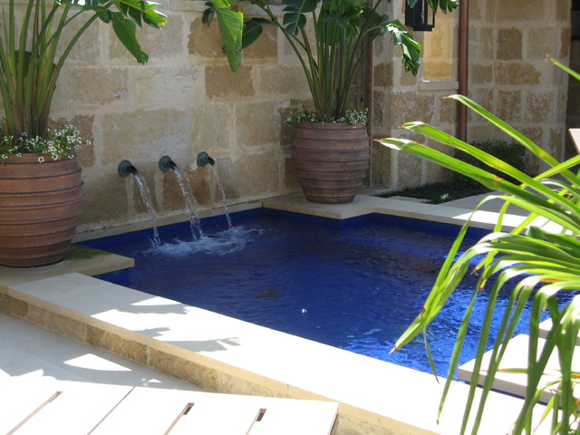 Blue Glass Tile Swimming Pool Traditional Pool Other By Ohlenburg Inc