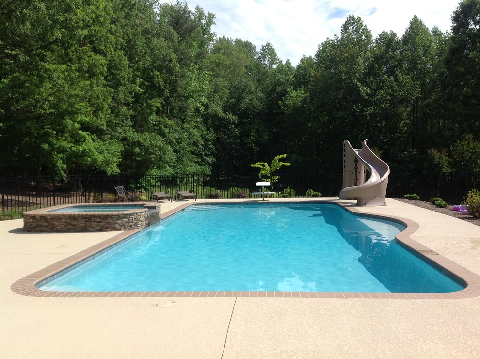 Inspiration for a timeless pool remodel in Raleigh