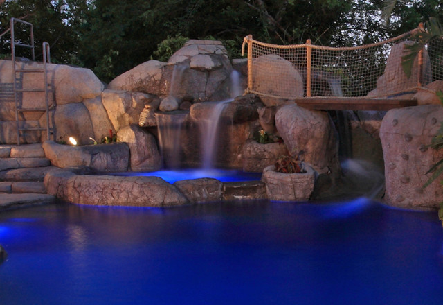 Blue Lagoon Tropical Pool Los Angeles By Green