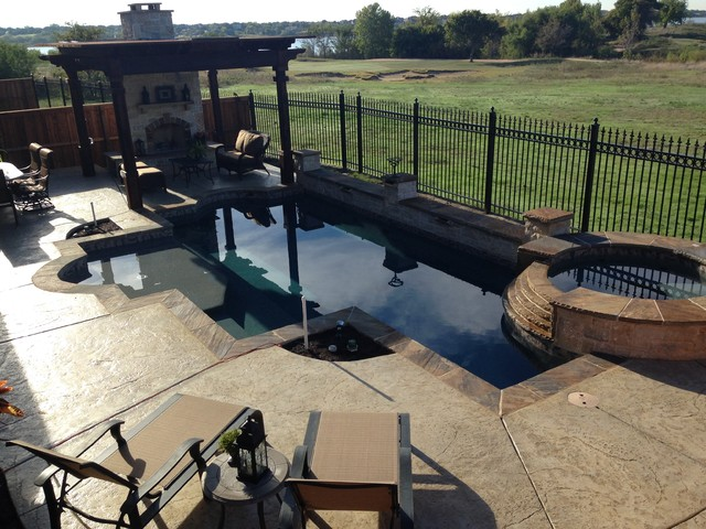 Perfect BMR Pool And Patio Swimming Pools Rustic Pool