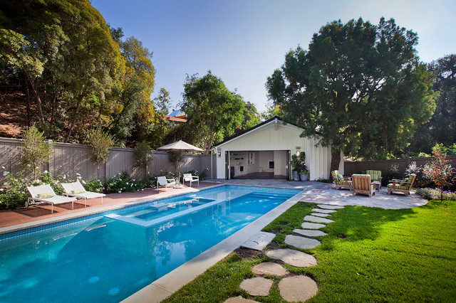 Boca De Canon House Traditional Pool Los Angeles By White Picket Fence Inc