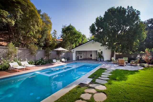 Boca De Canon House Traditional Pool Los Angeles
