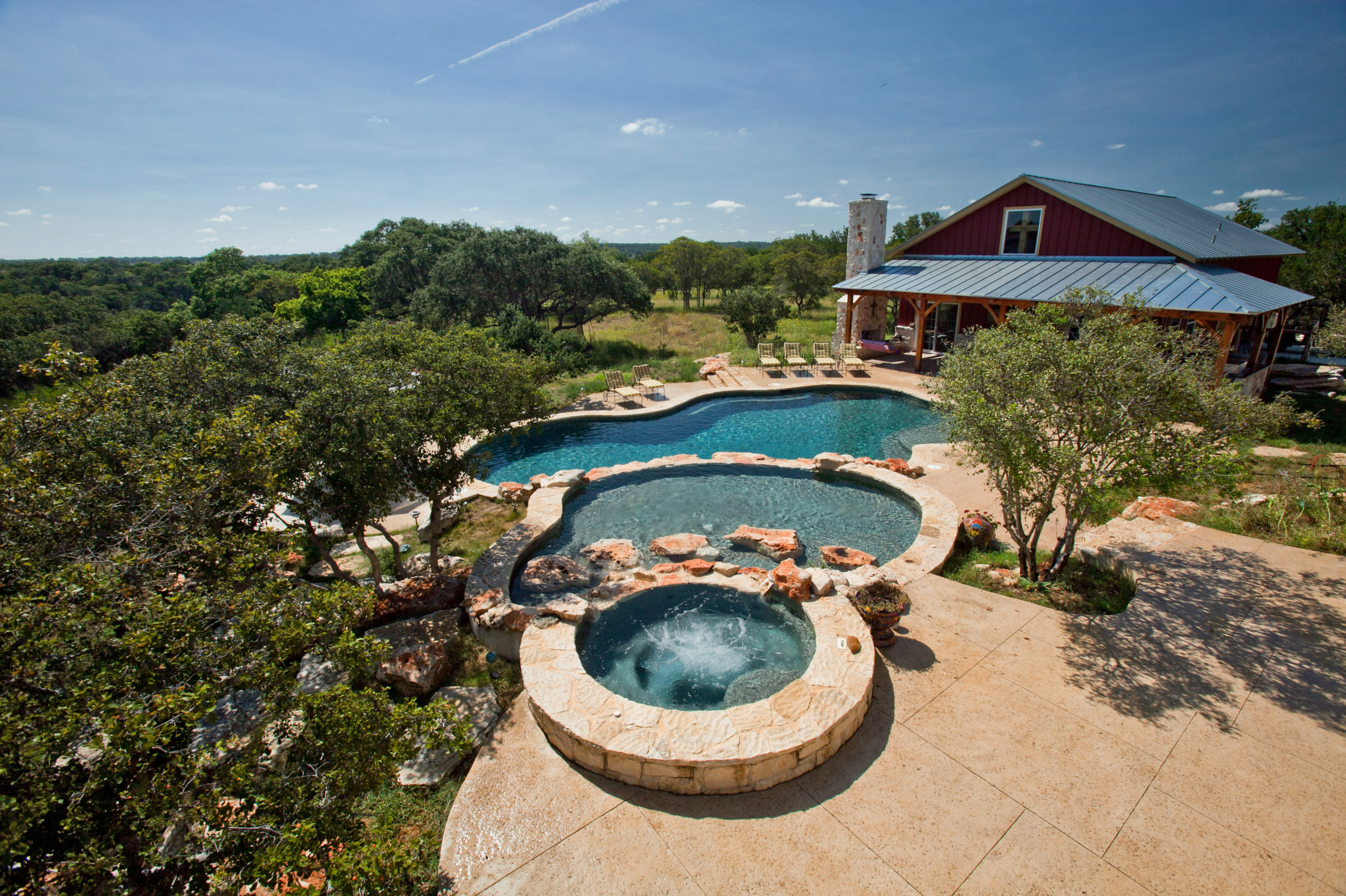 Boerne Natural Play Pool/Spa/Guesthouse/Outdoor Living