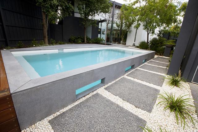 Bombay Bluestone Modern Pool Melbourne By Minke Pools