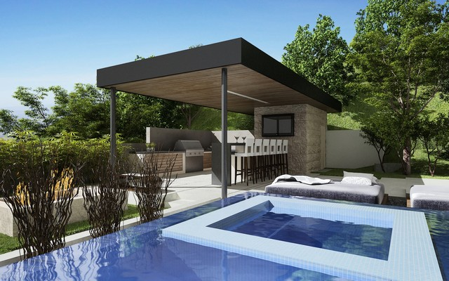 Bowery Design Group contemporary-pool