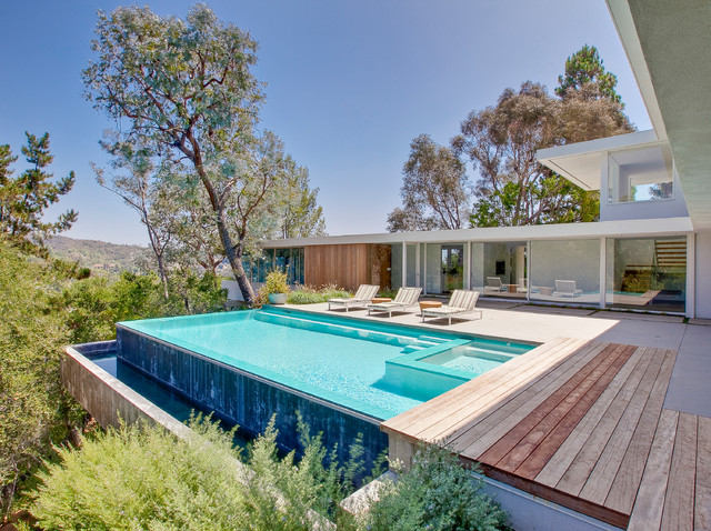 Brentwood Hills Modern Construction Modern Pool Los Angeles By Luke Gibson Photography