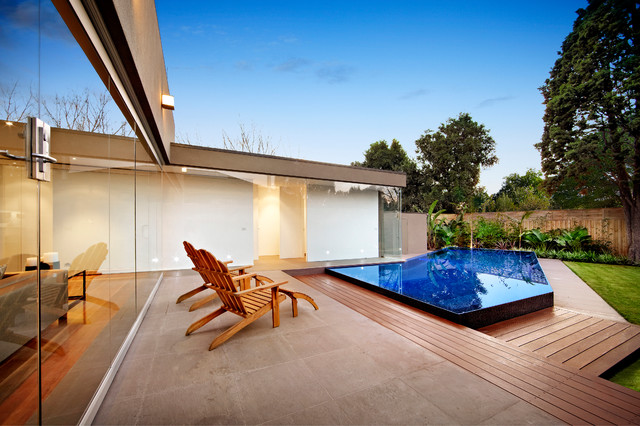 Brighton asymmetric modern pool melbourne by aloha pools pty ltd for Above ground swimming pools for sale melbourne