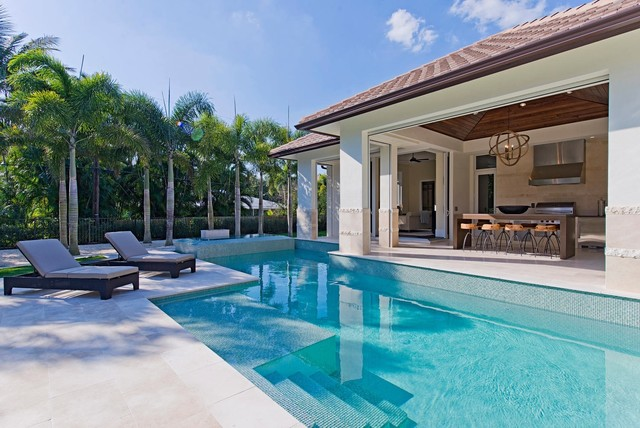 British west indies home in naples florida for Pool design in florida