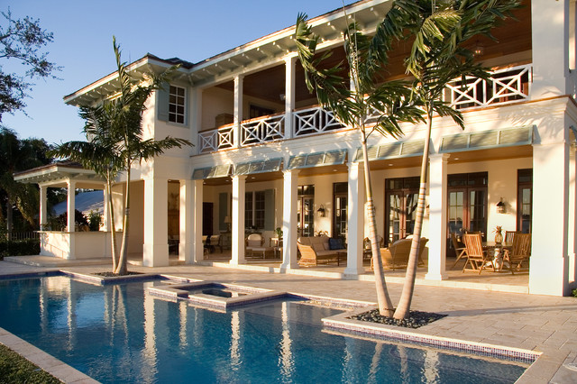 British West Indies Residence Tropical Pool Miami