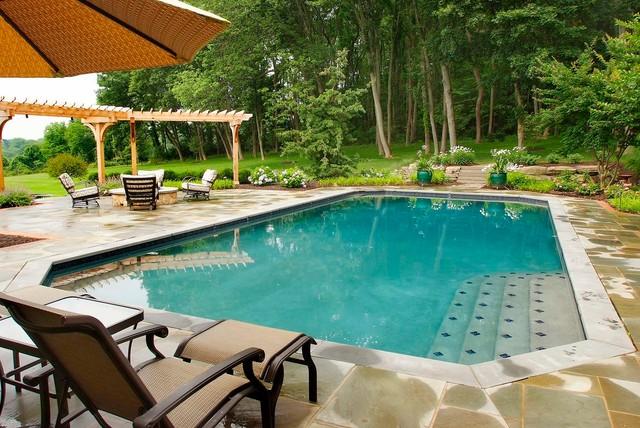 Bucks County Residence 3 traditional-pool