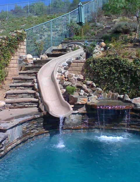 Home Swimming Pools With Slides