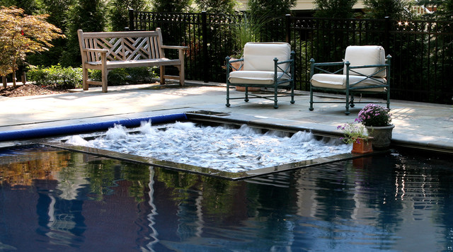 Builtin Spa Modern Pool Dc Metro By Lewis Aquatech