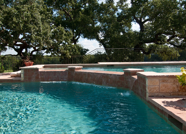 Burton Home Rustic Pool Houston By Papescapes LLC