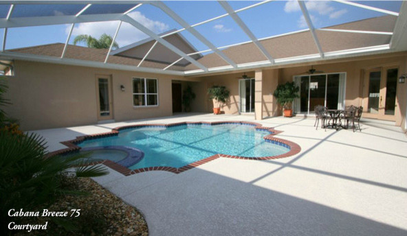 Cabana Courtyard Designs Traditional Pool Tampa By