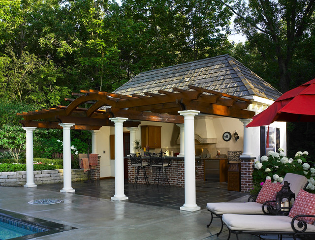 Backyard Cabana Designs : Cabana for outdoor entertaining  Contemporary  Pool  milwaukee  by