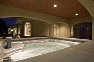 Cabana House Indoor Outdoor Spa Room Mediterranean Pool Other By Custer Design Group