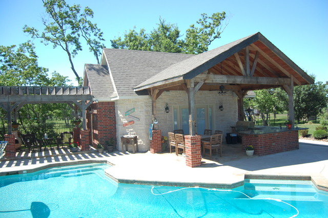 Cabana Traditional Pool Houston By Rives Designers
