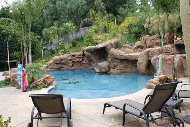 Cabo style tropical pool los angeles by green scene landscaping pools for Natural swimming pools los angeles