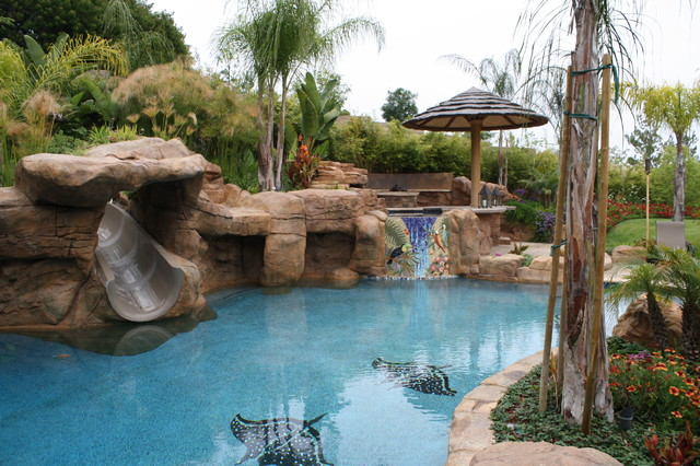 Boulders Around Pool Enchanting Pool Boulder Landscaping  Houzz