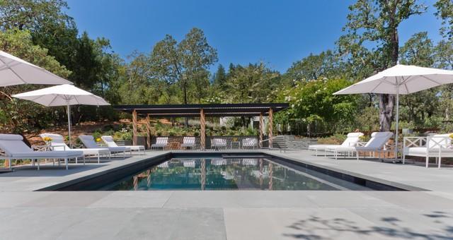 Calistoga residence contempor neo piscina san - Residence calistoga strening architects californie ...