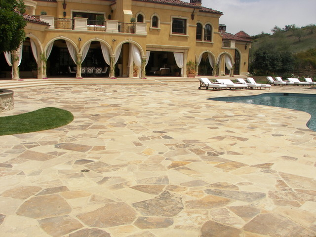 Cambridge Sandstone Paving Traditional Pool Los