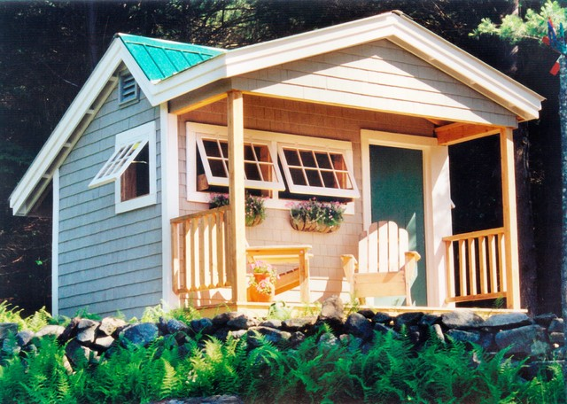 Camp cottage cabin kits potting fort 12 39 x 12 for Beach cabin kits