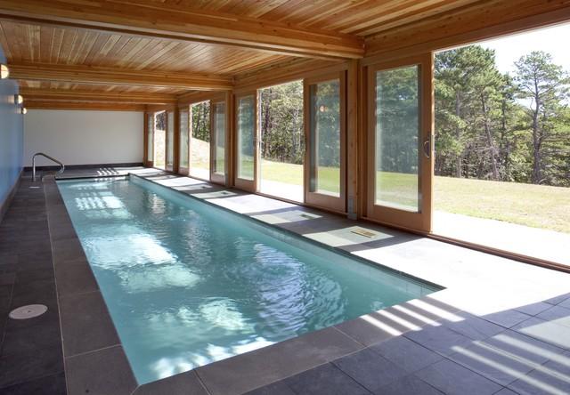 Cape Cod Modern House Addition, Wellfleet midcentury-pool