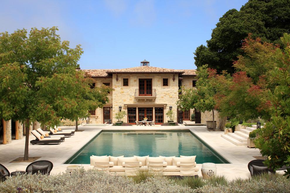 Tuscan rectangular pool photo in San Francisco